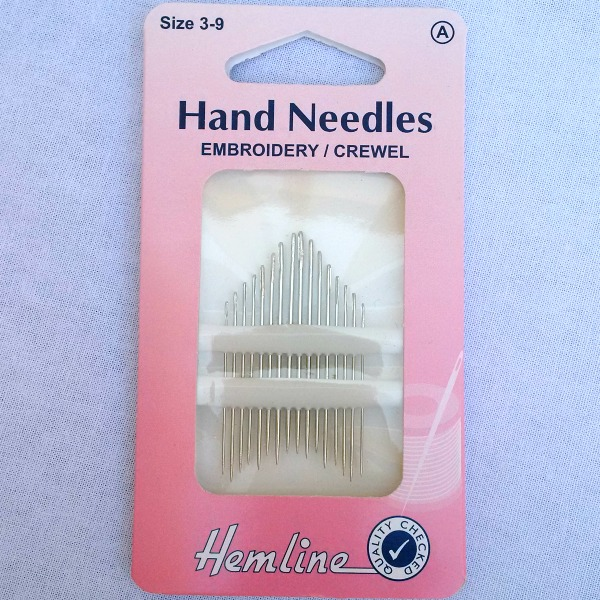 Embroidery//Crewel Hand Sewing Needles Size 3-9