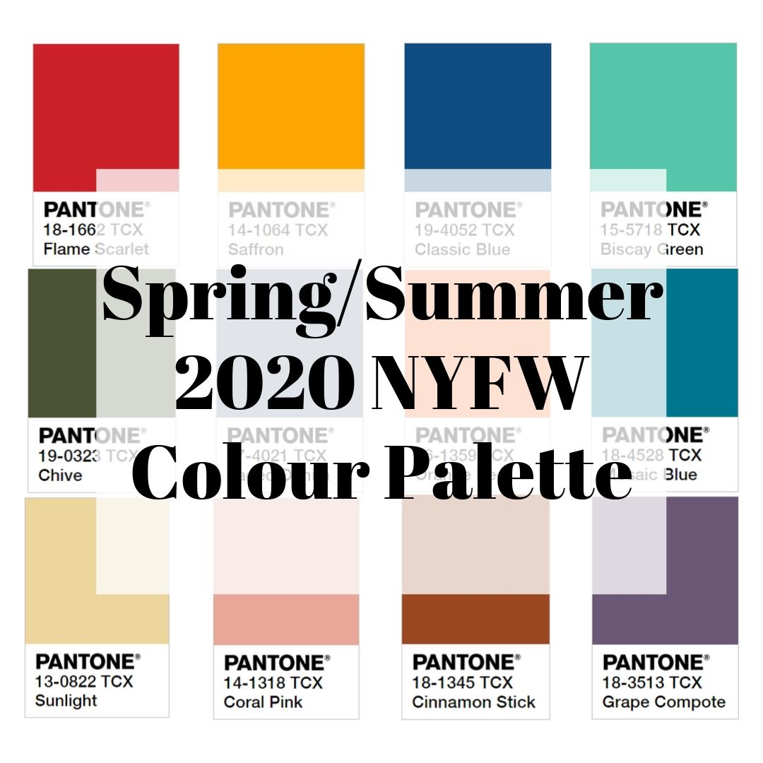 Spring/Summer 2020 NYFW Color Palette