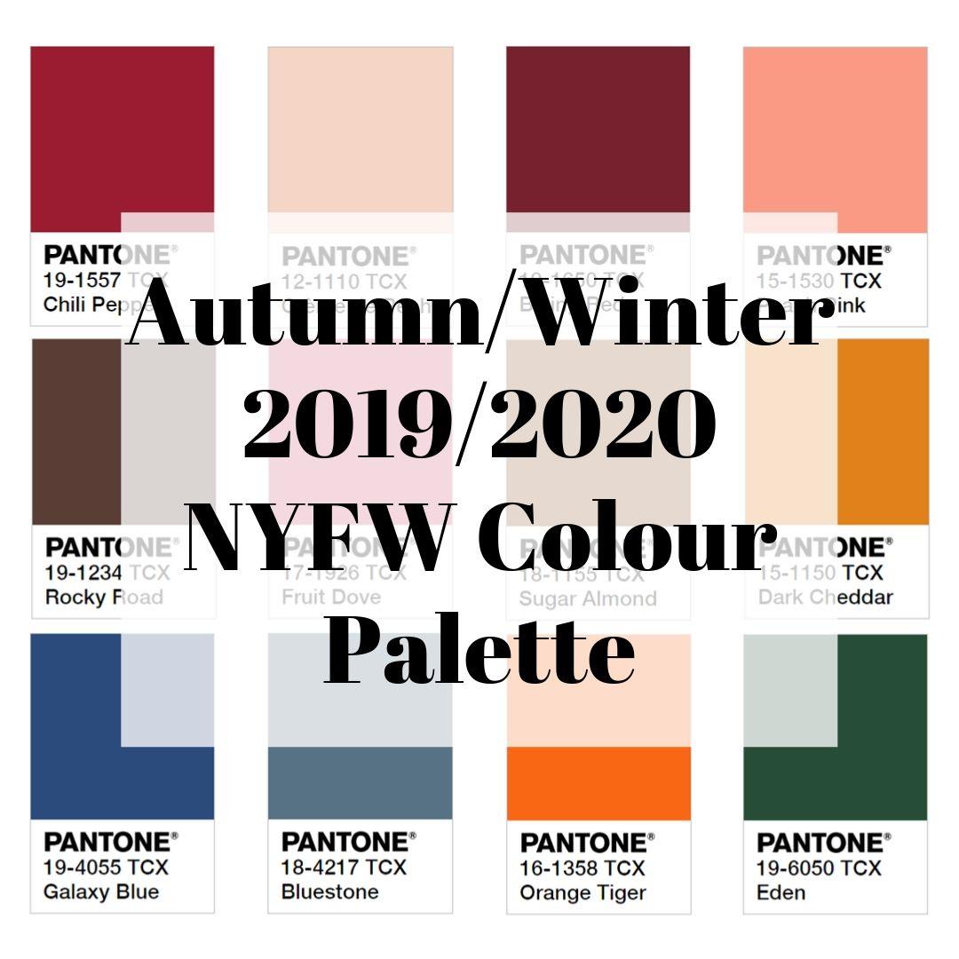 Autumn/Winter 2019/2020 NYFW Color Palette